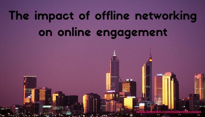 The Impact of Offline Networking on Online Engagement