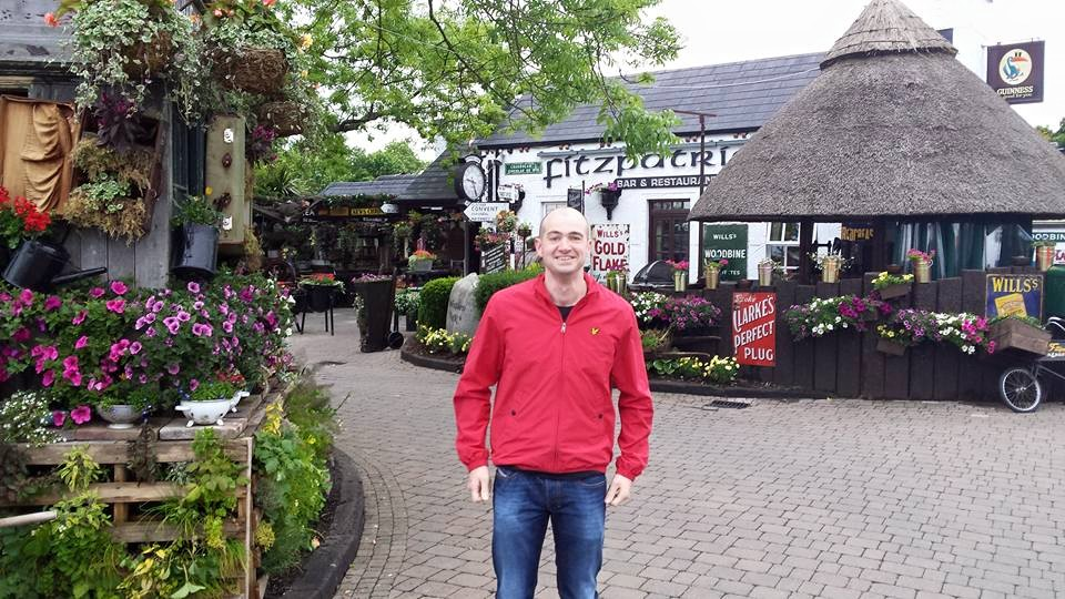 My husband Paul outside Fitzpatrick's on one of our dinner dates